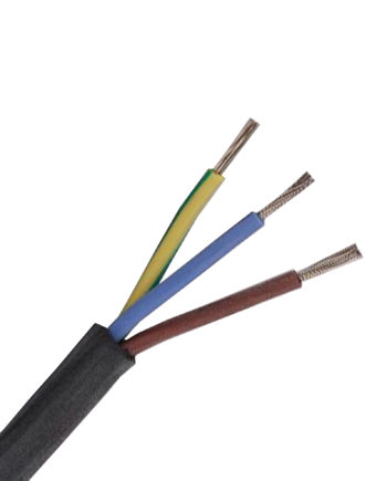 Silicon 1.5mm 3 Core Black Heat Resistant Cable