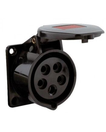 16a 5 Pin Panel Socket Black Pce 315 6x