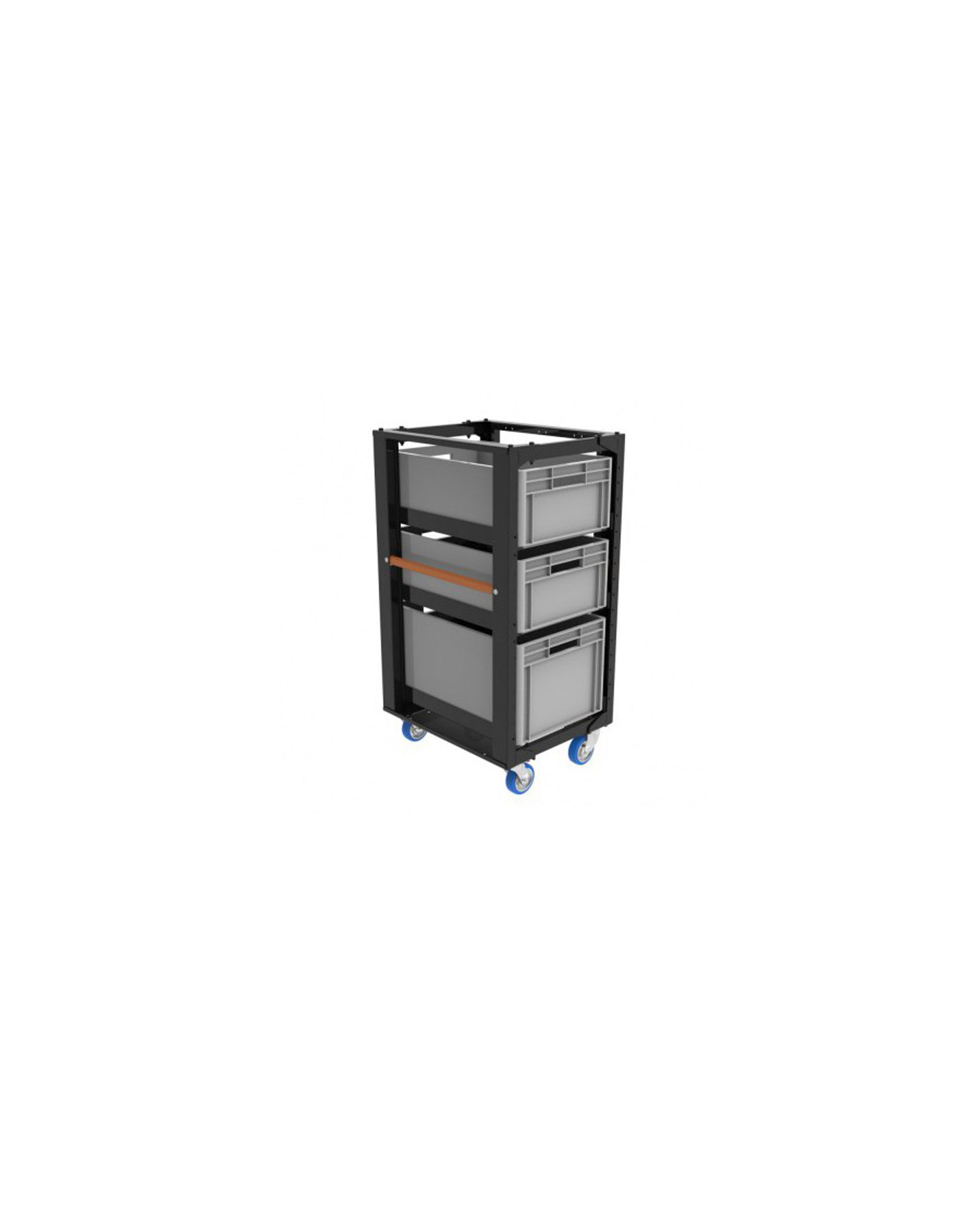 Admiral Staging Storage Cart H110 With Crates
