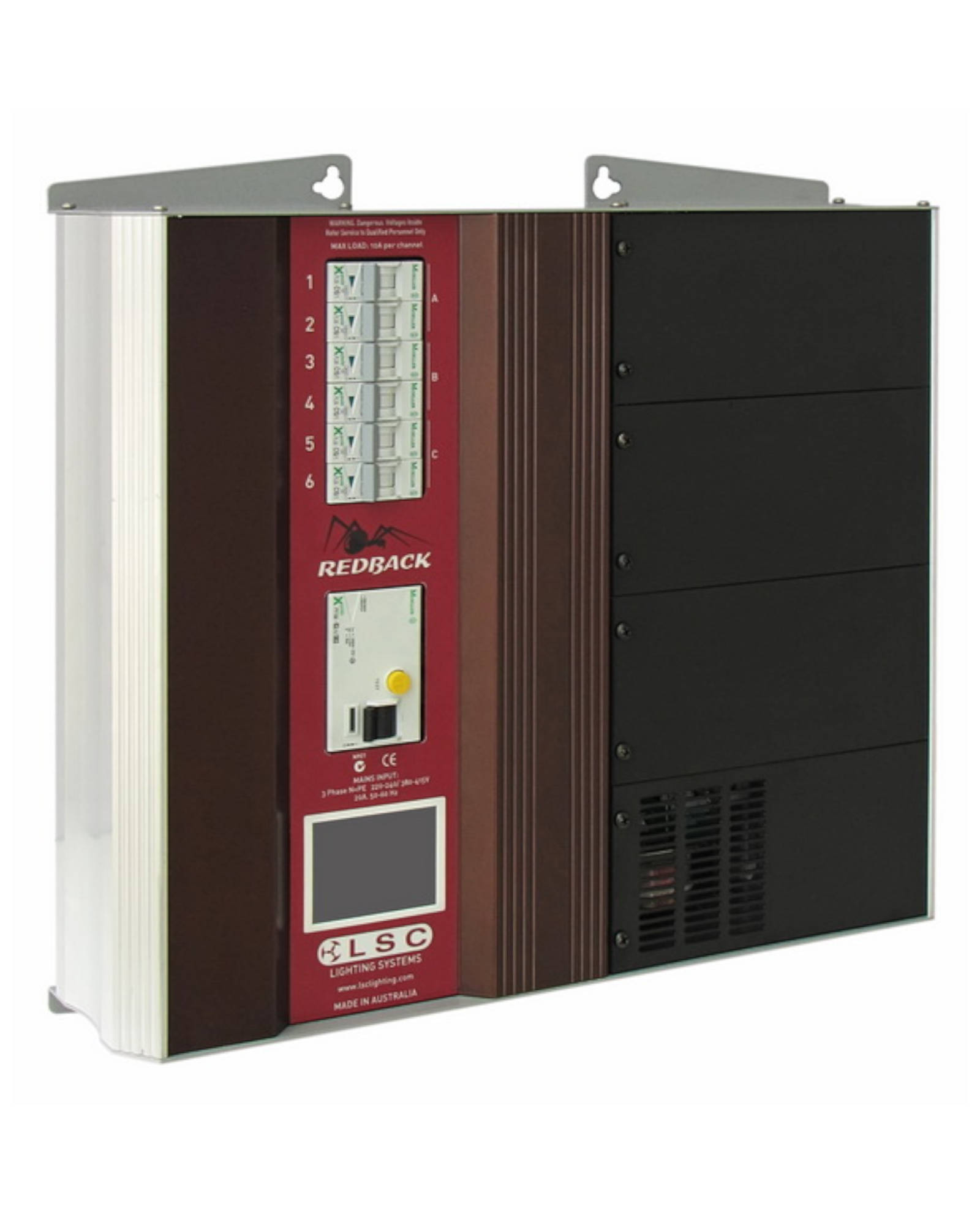 Redback Wallmount 6 Channel X 10a Dimmer With Internal Screw Terminal Outlets And Rcd Protection