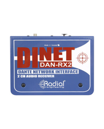 Radial Dinet Dan Rx2 2 Channel Dante Network Receiver 1