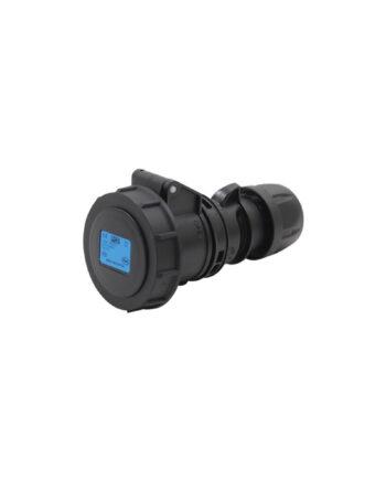 Pce 2132 6x 16a 3 Pin Socket Black Ip67