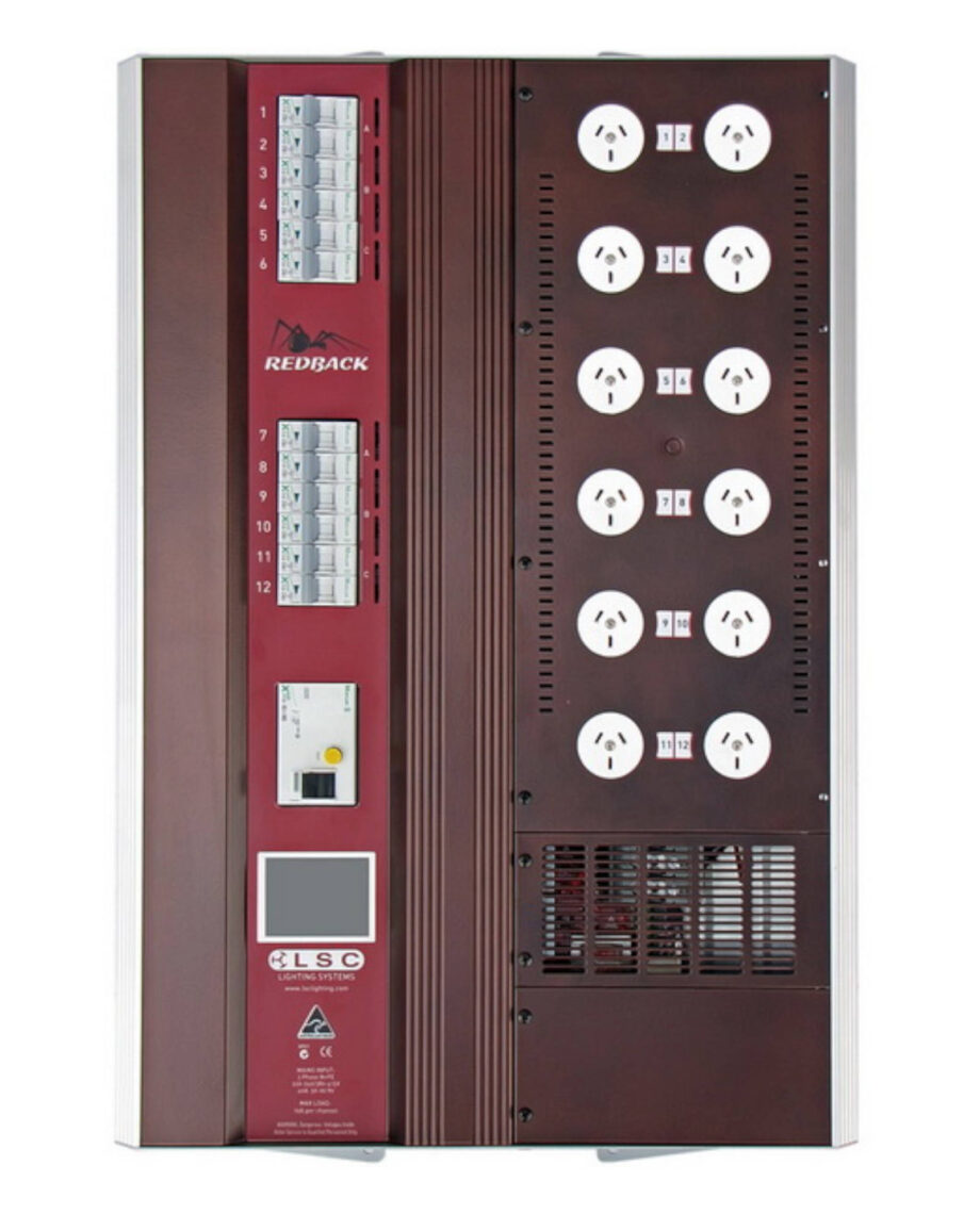 Redback Wallmount 12 Channel X 10a Dimmer With Australian 3 Pin Gpos And Rcd Protectio