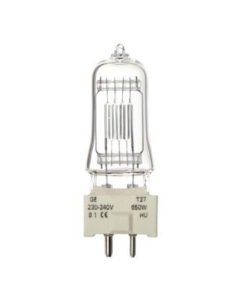 T27 Theatrical Lamp Ge 650w 88469 230v T27 Made By Ge  Ge 88469 230v 650 Watt 240v Gy9.5 Base