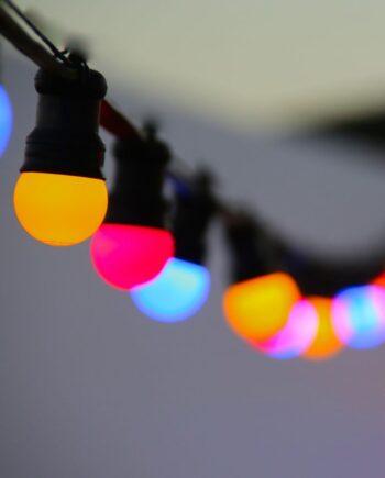 NEW Firefly LED Lighting Festoon Harness ES E27 Holders - 24V White per meter