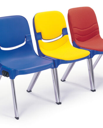 Sebel Progress Side Chair Plain Polypropylene Finish c/w Seat Pad A Fabric