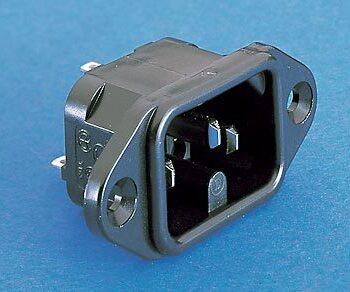Panel Male IEC Plug Bulgin PX0590