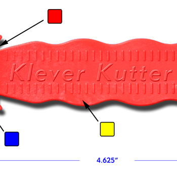 Klever Kutter - Safety and Convenience - Orange Handle