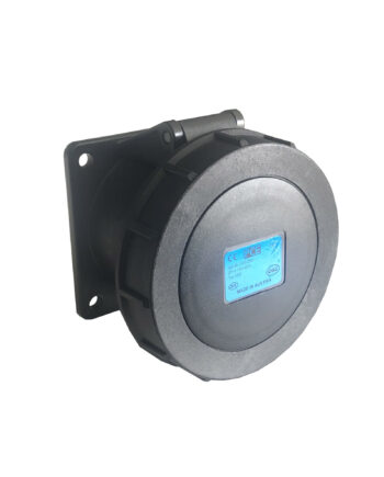 Pce 3232 6x 32a 3 Pin Panel Socket Ip67 32a Black