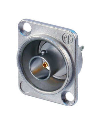 Neutrik Nbb75dsi Flush Mount Bnc Solder Pins D Size, Isolated, Nickel Shell