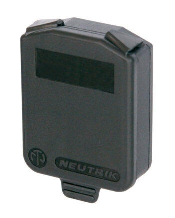 Neutrik Scdx Black Hinged Sealing Cover For All D Size Connectors
